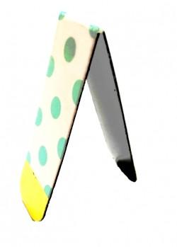 Магнитная закладка для книг. Зеленый горошек