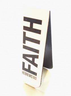 Магнитная закладка для книг. FAITH. Hebrews 11:1 (Вера)