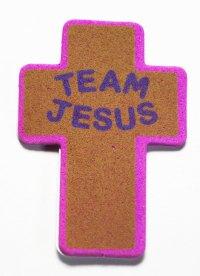 Набор Наклеек Jesus Team Крест коричневый