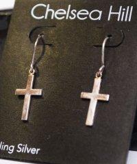 Сережки серебренные в форме Крестов by Chelsia Hill