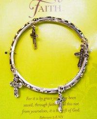 Браслет металлический с крестиками