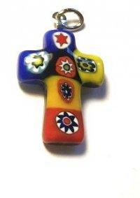 Крестик из муранского стекла (4 цвета)