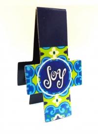 Магнитная закладка для книг в форме креста. JOY (Радость)