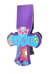Магнитная закладка для книг в форме креста. LOVE (Любовь)