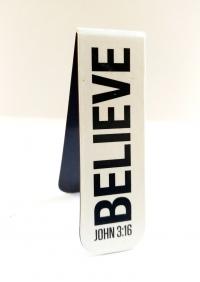 Магнитная закладка для книг. BELIVE. John 3:16 (Иоанна 3:16)
