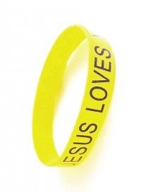 Браслет силиконовый «JESUS LOVES YOU» (желтый)