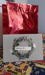 Открытка «Merry Christmas» (двойная горизонтальная в конверте)