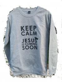 Джемпер. Keep calm. Jesus is comming soon