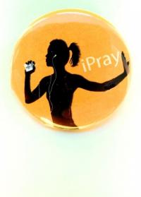 Значок. iPray (горчичный)