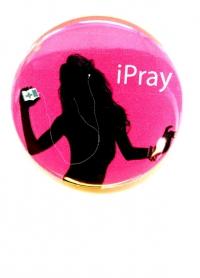 Значок. iPray (розовый)