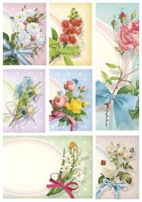 Набор визиток. Цветы с виньеткой