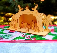Вертеп. Сцена Рождества (сборная деревянная модель) Малый