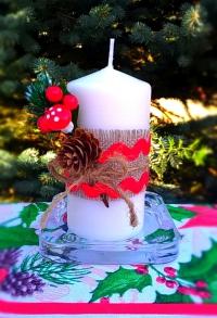Свеча Рождественская декорированная (тип 01)