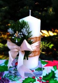 Свеча Рождественская декорированная (тип 02)