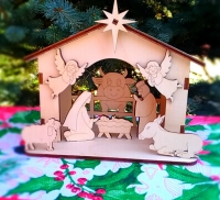 Рождественский вертеп (сборная деревянная модель Малый размер)