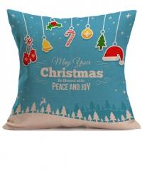 Наволочка для рождественской декоративной подушки. Christmas