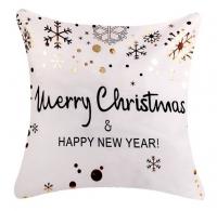 Наволочка для рождественской декоративной подушки. Marry Christmas & Happy New Year