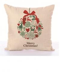 Наволочка для рождественской декоративной подушки. Marry Christmas