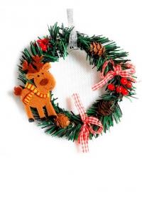 Рождественский венок с оленем