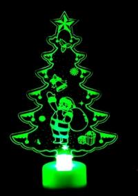 Рождественская ёлочка светодиодная с Санта-Клаусом