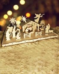 Вертеп. Рождественская история (Большая сборная деревянная модель)