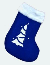 Рождественский сапожок (синий)