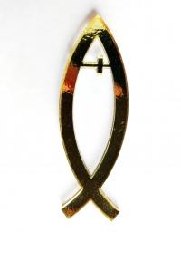 Рыбка с крестом (цвет золотой)