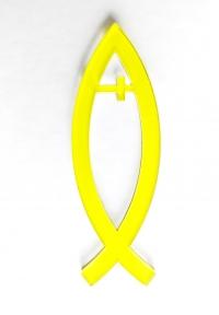 Рыбка с крестом (цвет желтый)