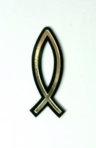 Рыбка (двухслойная цвет черный/золото) малая
