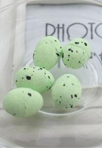 Пасхальный декор. Перепелиные яйца (цвет зеленый)