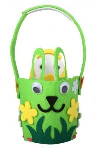 Пасхальная корзинка декоративная (зеленая)
