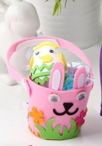 Пасхальная корзинка декоративная (розовая)