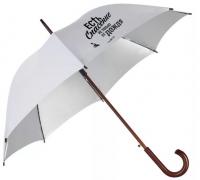Зонт-трость. Есть спасение не только от дождя (белый)