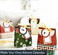 Адвент-календарь. Бумажные пакетики. Сделай своими руками