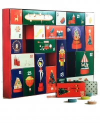 Адвент-календарь. Короб с коробочками. Сделай своими руками