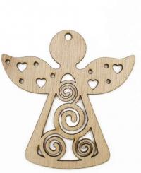 Набор деревянных подвесок. Ангелы (3 штуки)