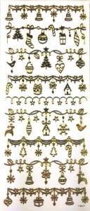 Набор рождественских наклеек. Золотой декор