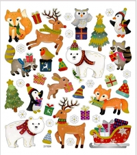 Набор рождественских наклеек. Рождественские мотивы