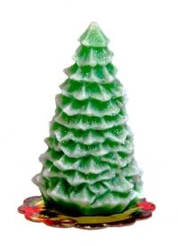 Свеча рождественская. Ёлочка