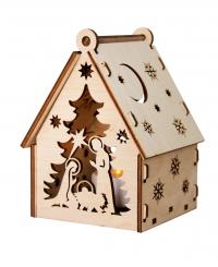 Рождественский домик  с подсветкой. Вертеп и Олень