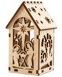 Рождественский домик с подсветкой. Вертеп и Свечи