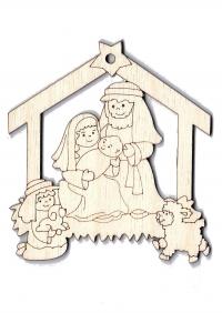 Подвеска на елку. Рождественский вертеп