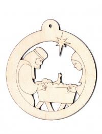 Подвеска на елку. Рождественский вертеп (в форме шара)