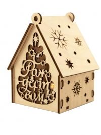 Рождественский домик с подсветкой. С Рождеством