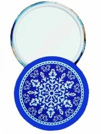 Сувенирное зеркальце. Счастливого Рождества! (снежинка)