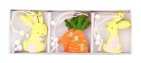 Набор пасхальных подвесок (кролик и морковка)