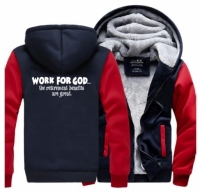 Толстовка с капюшоном. Work For God