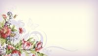 Набор визиток. Бабочки и цветы