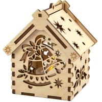 Рождественский домик с подсветкой. Колокольчики