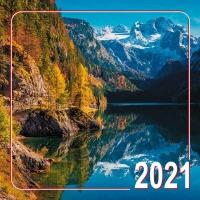 Календарь перекидной на 2021 год. Горы